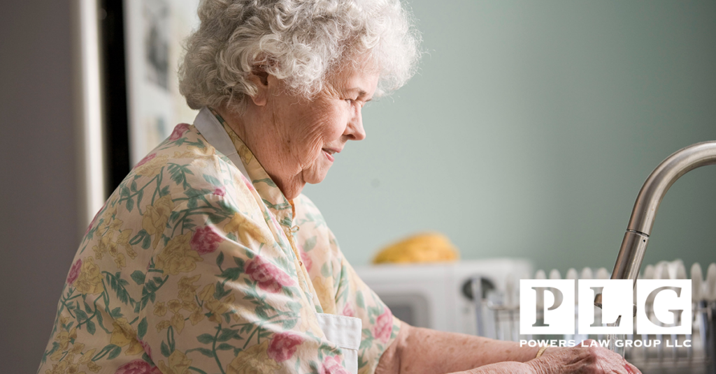 Picture of an older woman at sink for blog on Long-Term Care Planning